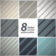A set of 8 vector seamless stylish retro patterns. - Stock Vector