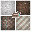 4 seamless stylish patterns. — Stock Vector