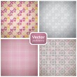 A set of 4 seamless patterns. Vector backgrounds. — Stock Vector