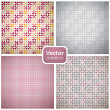 Stock Vector: A set of 4 seamless patterns. Vector backgrounds.