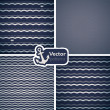 Set of 4 seamless patterns with waves. — Stock Vector #18423899