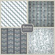 Retro collection of 4 seamless patterns. — Stock Vector #18423905