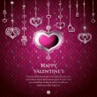 Valentine card design. Vector illustration. — 图库矢量图片