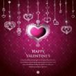 Valentine card design. Vector illustration. — Stock Vector