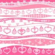 Royalty-Free Stock Vector Image: Seamless pattern with valentine hearts