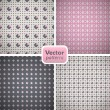A set of 4 perfect seamless retro patterns with diamonds. Vector — Stock Vector