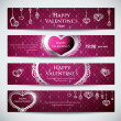 Set of banners for Valentine — Stock vektor