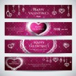 Set of banners for Valentine — Imagen vectorial