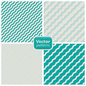 A set of 8 striped patterns. Seamless vectors. — Stock Vector