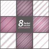 A set of 8 classical feminine striped patterns. — Stock Vector