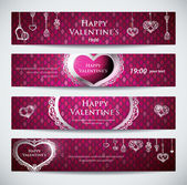Set of banners for Valentine — Wektor stockowy