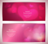 Valentine's day vector cards with abstract hearts. — Stock Vector