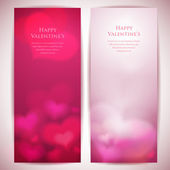 Valentine's day vector backgrounds with abstract hearts. — Stock Vector