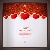 Valentine's day. I love you. Celebration background with hearts — 图库矢量图片