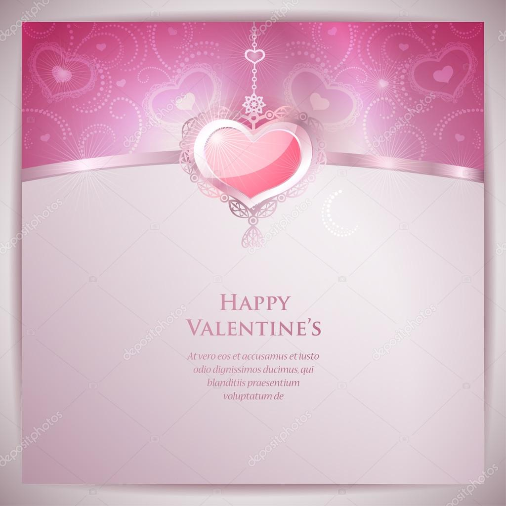 Valentine's Day Card   Imagen vectorial #19019805