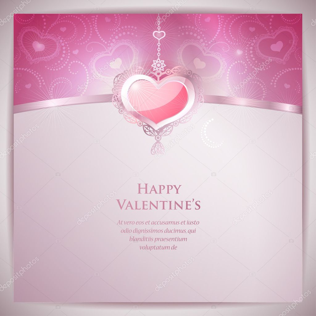 Valentine's Day Card   Stockvectorbeeld #19019805