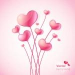 palloncini cuore San Valentino — Vettoriale Stock