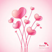 Valentines Day Heart Balloons. — Stock Vector