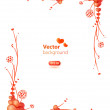 Cute floral frame for the Valentine's Day — Stock Vector