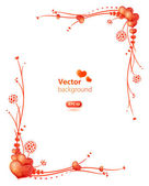 Cute floral frame for the Valentine's Day — Vector de stock