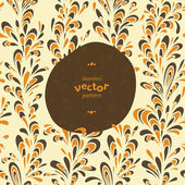 Vector invitation card on seamless background. — Stock vektor