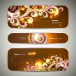 Vector set of 3 banners with decorative swirls. — Stock Vector #21236243