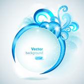 Fondo abstracto con elementos azules. — Vector de stock