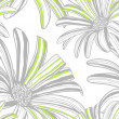 Seamless pattern with gerbera flowers. Vector background. — Stock Vector