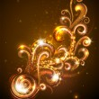 Royalty-Free Stock Vector Image: Gold design element with swirls. Vector illustration.