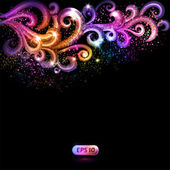 Abstract vector background with colorful swirls. — Stock Vector