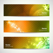 Set of three colorful vector banners. — Stock Vector