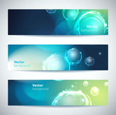 Set of abstract vector banners or headers. — Stock Vector