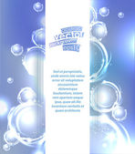 Vector abstract background with bubbles elements. — Stock Vector