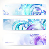 Set of three vector headers. Abstract artistic Backgrounds. — Stock Vector
