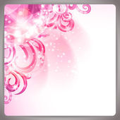 Abstract background with cute pink swirls. — Stock Vector