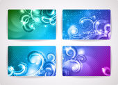 Set of colorful vector business cards — Stock Vector
