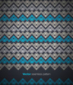 Brochure cover template with ethnic seamless pattern. Vector. — Stock Vector
