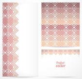 Set naadloze patroon en grenzen. vector ornamenten. — Stockvector