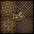 Collection of 4 seamless patterns. Vector gambling set. — Stock Vector