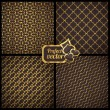 Collection of 4 seamless patterns. Vector gambling set. — Stock Vector #28630355