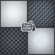 Set of 4 elegant masculine seamless patterns. Vector backgrounds — Stock Vector