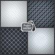 Set of 4 elegant masculine seamless patterns. Vector backgrounds — Stock Vector