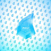 Wieloboczne świeci kropli deszczu. bezszwowe tło. — Wektor stockowy