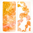 Set of orange abstract vector banners. — Imagen vectorial
