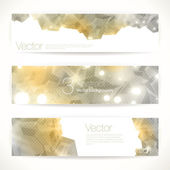 Set of gold abstract vector banners. — Stock Vector