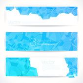 Set of abstract vector banners. — Stock Vector