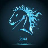 Feliz año nuevo 2014. — Vector de stock