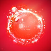 Festive glittering round frame. — Stock Vector