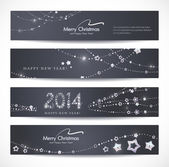Christmas, New Year banners. — Stock Vector