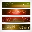 Christmas, New Year banners. — Stock Vector #35513405